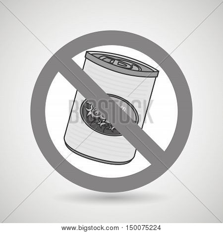 fast food can unhealth prohibited vector illustration eps 10
