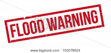 Flood Warning Rubber Stamp