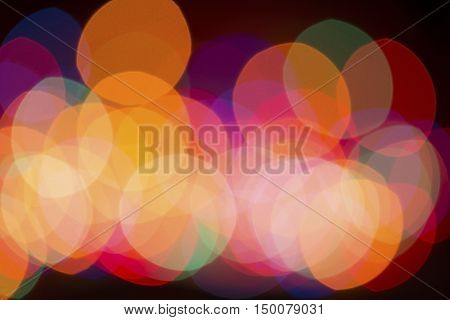 An abstract colorful defocused Christmas light background