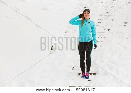 Young Woman Outside During Winter.