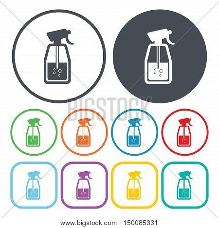 spray icon on white background for web