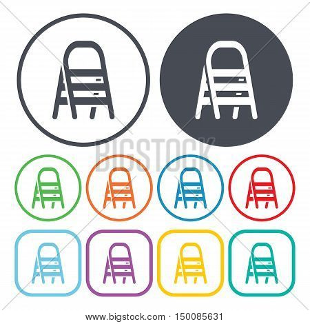 stepladder icon on white background for web