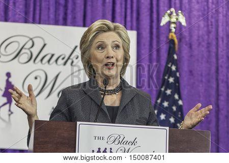 16 September 2016 - WashingtonUSA - Hillary Clinton speaks at Black Women's Agenda Annual Symposium .