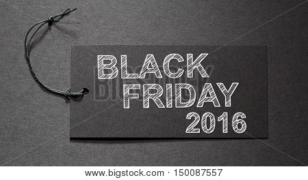 Black Friday 2016 Text On A Black Tag