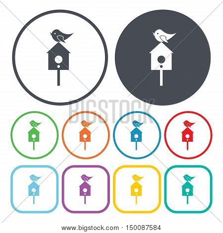 birdhouse icon on white background for web