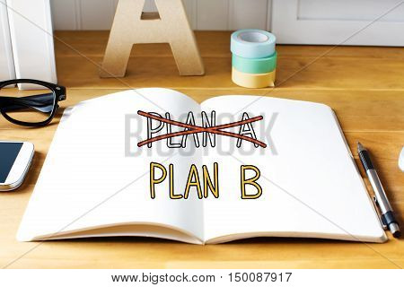Plan B Concept With Notebook