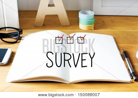 Survey Concept With Notebook