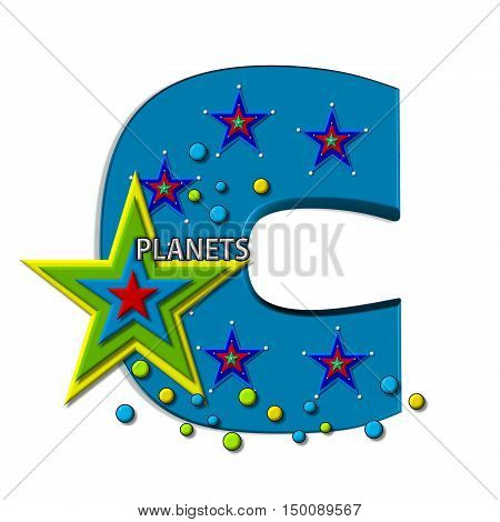 Alphabet Planets In Space F