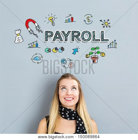 Payroll Concept With Happy Young Woman