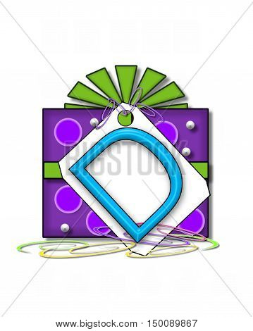 Alphabet Gift Wrapped D