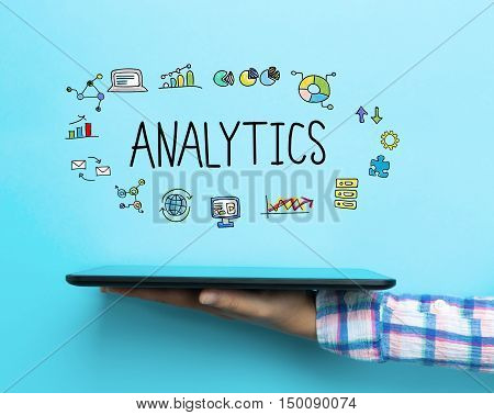 Analytics Concept With A Tablet