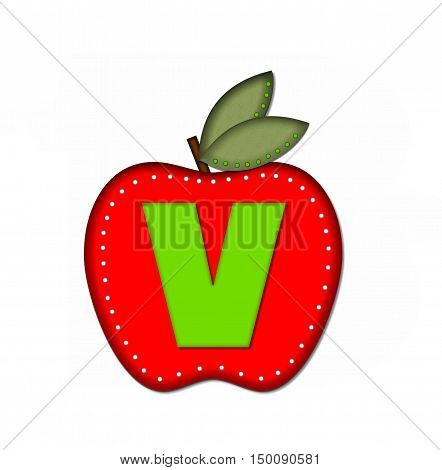 Alphabet Delicious Apple V