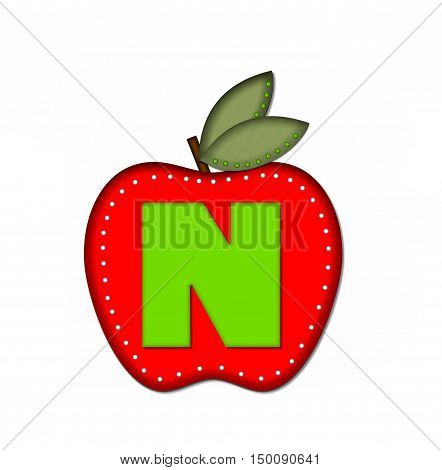Alphabet Delicious Apple N