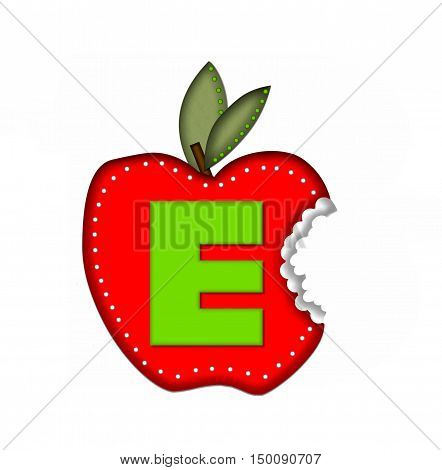 Alphabet Delicious Apple Bite E