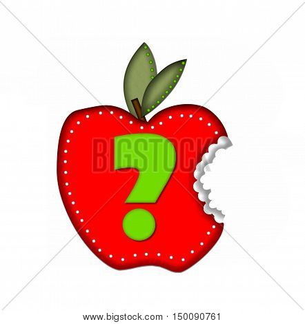 Alphabet Delicious Apple Bite Question