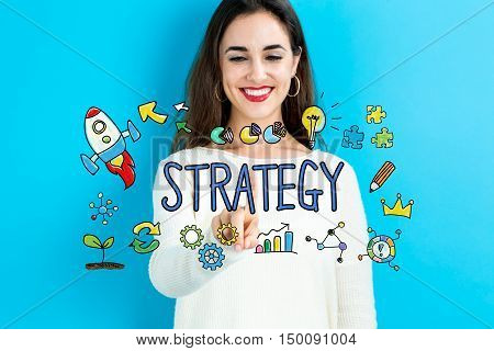 Strategy Concept With Young Woman