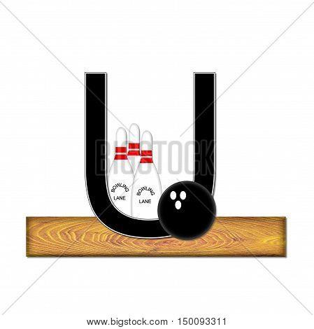 Alphabet Bowling U