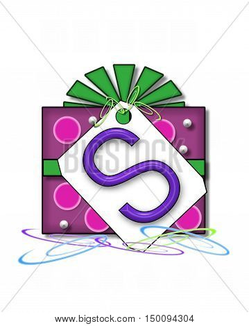 Alphabet Gift Wrapped S