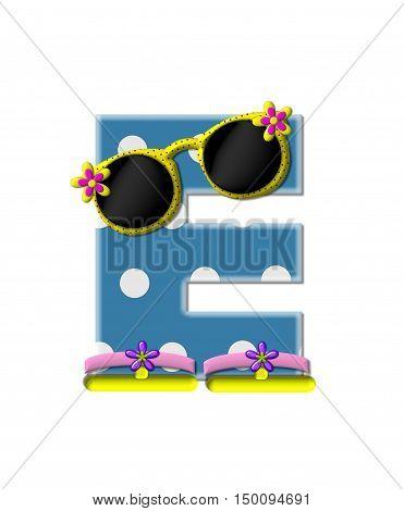 Alphabet Polka Dot Bikini E