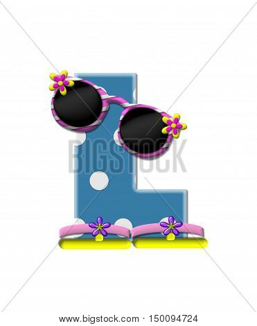 Alphabet Polka Dot Bikini L