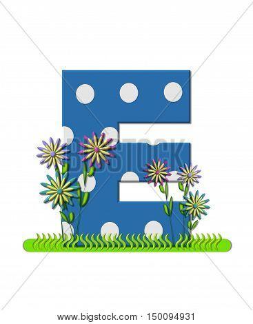 Alphabet Wildflower Meadow E