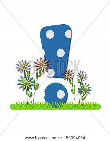 Alphabet Wildflower Meadow Exclamation