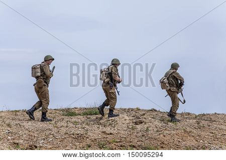 A Soviet Spetsnaz special operations group on a mission