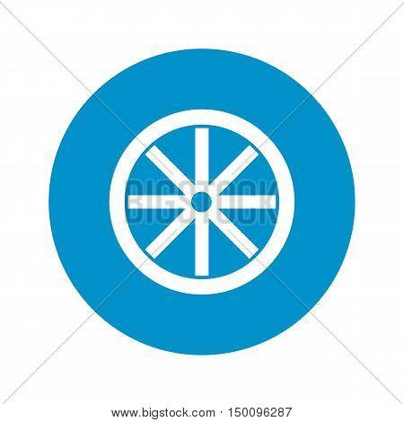 wheel icon on white background for web