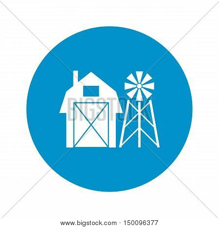 barn icon on white background for web