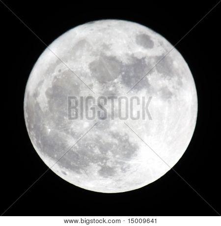Phase Of The Moon, Full Moon. Ukraine, Donetsk Region 19.03.11