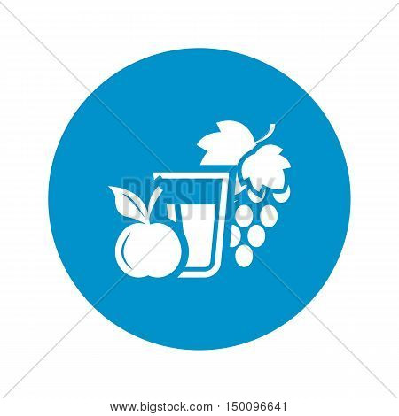 juice icon on white background for web