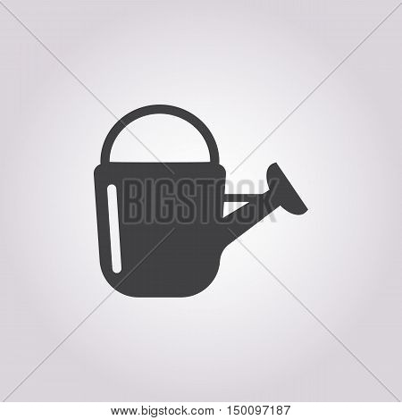 watering can icon on white background for web