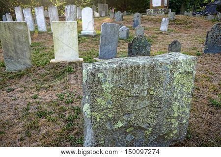 Very Old Town Graveyard in New England