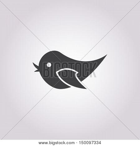 bird icon on white background for web
