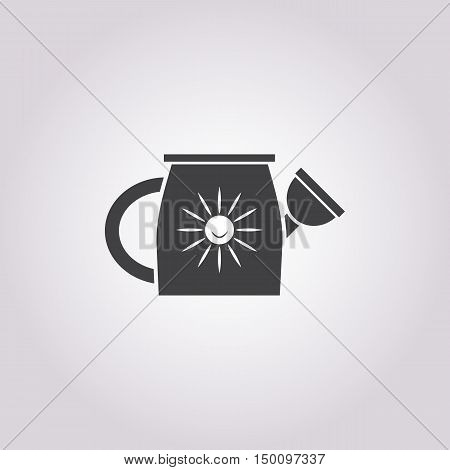 watering  icon on white background for web