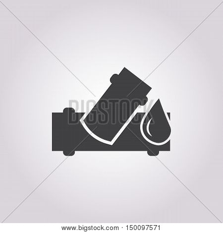 water pipe icon on white background for web