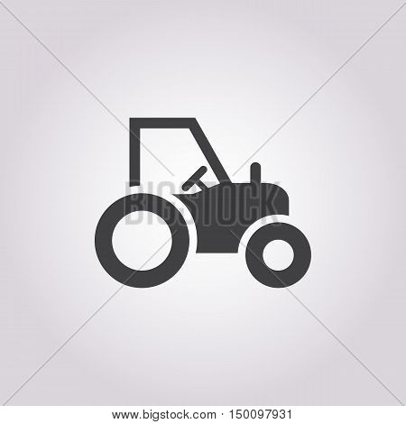 tractor icon on white background for web