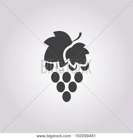 bunch of grapes icon on white background for web