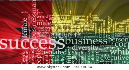 Flag of Guinea Bissau, national country symbol illustration wavy business success concept