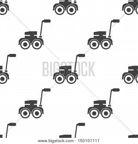 lawn mower icon on white background for web