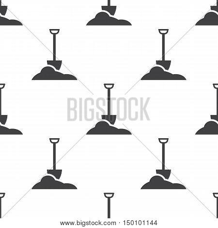 shovel icon on white background for web