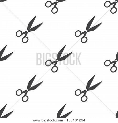 scissors icon on white background for web