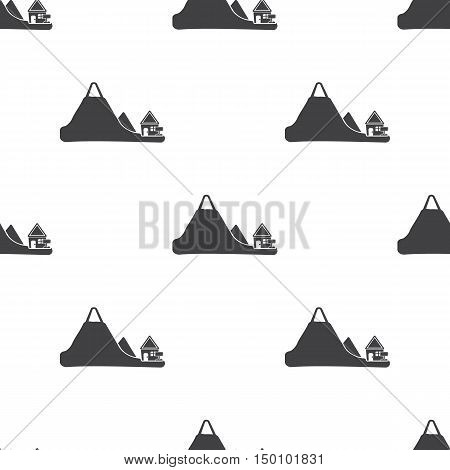 mountains icon on white background for web