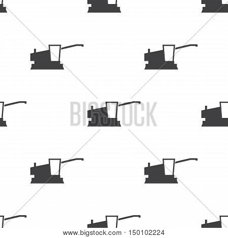 combine harvester icon on white background for web