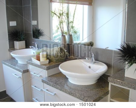 Bathroom Double Bowl