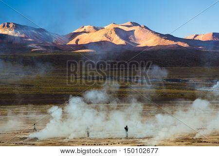 Geysers del Tatio in Chile