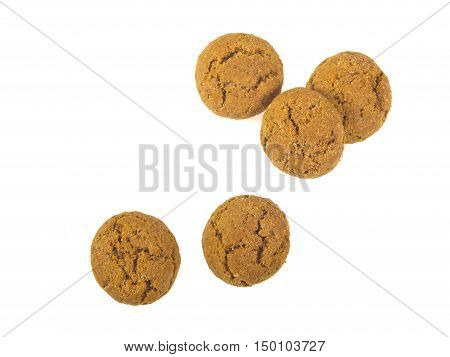 Five Pepernoten Cookies Seen From Above