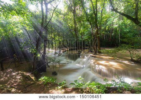 Waterfall Hua Mae Kamin at Kanchanaburi Thailand