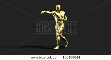 Sports Fitness Concept as a Abstract Background 3d Render
