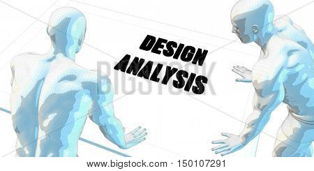 Design Analysis Discussion and Business Meeting Concept Art 3d Render